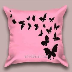 Design throw pillow Lavender flight of