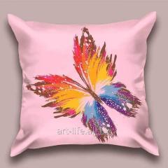 Design throw pillow Lavender butterfly, art.