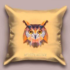 Design throw pillow Radiant owl, art.