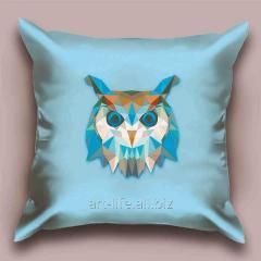 Design throw pillow Azure owl, art. 1Pd-24-50х50_а