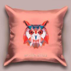 Design throw pillow Lilac owl, art. 1Pd-25-50х50_а
