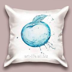 Design throw pillow Water apple, art.