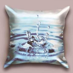 Design Azure Drop throw pillow, art.