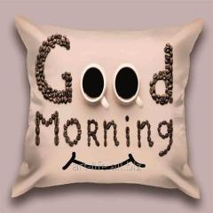 Design Good Morning throw pillow, art.