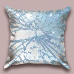 Design throw pillow Azure crumb, art.