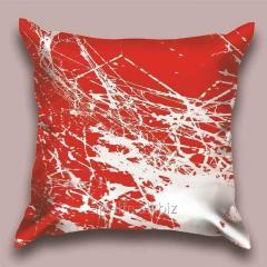 Design throw pillow Scarlet spider line, art.