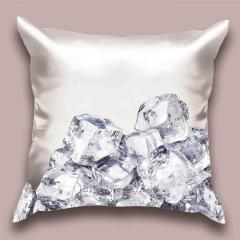 Design throw pillow of the Small piece of ice,