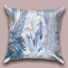 Design throw pillow Petals of snow 1, art.