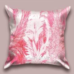 Design throw pillow Petals of snow 2, art.