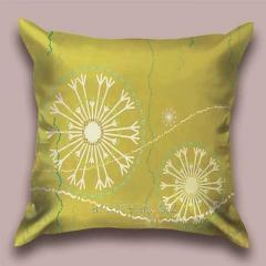Design Flying throw pillow snezhinka_z, art.