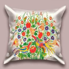 Design throw pillow Spring lawn, art.