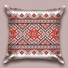 Design throw pillow National ornament, art.