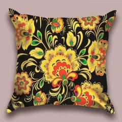 Design throw pillow Night blossoming, art.