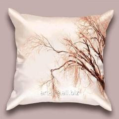 Design throw pillow Autumn bow, art.