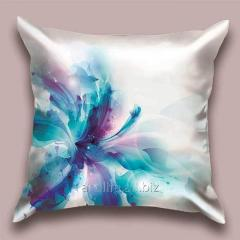 Design throw pillow Cold lily, art.