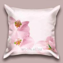 Design throw pillow Early orchid, art.