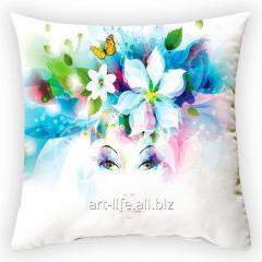Design throw pillow Spring wreath 1, art.