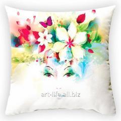 Design throw pillow Spring wreath 2, art.