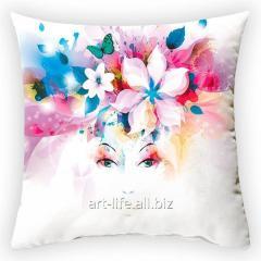 Design throw pillow Spring wreath 3, art.