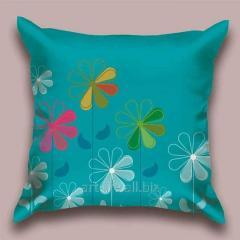 Design throw pillow Winter garden, art.