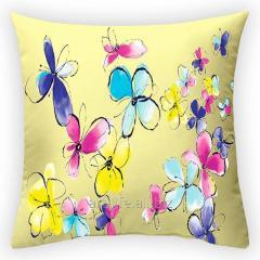 Design throw pillow Solar summer, art.