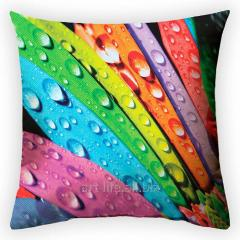 Design throw pillow Morning rainbow, art.