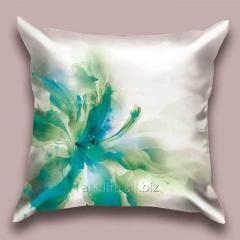 Design throw pillow Water flower, art.