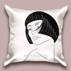 Design throw pillow Light night, art.