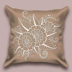 Design throw pillow Sand openwork, art.