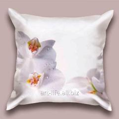 Design throw pillow Gentle orchid, art.