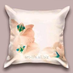 The design Orchid throw pillow in decline beams,