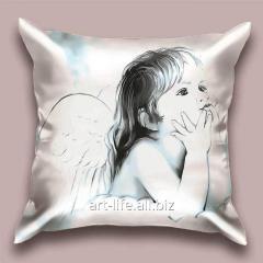 Design Craquelure throw pillow, art.
