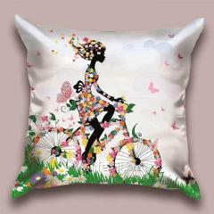 Design Spring throw pillow tsvetopad, art.