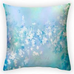 Design throw pillow Flower whirlwind, art.