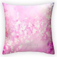 Design throw pillow Flower wind, art.