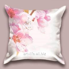 Design throw pillow Gentle Oriental cherry, art.