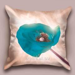 Design throw pillow Blue poppy, art.