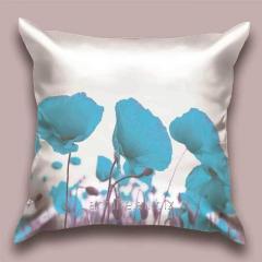 Design throw pillow Azure poppy, art.