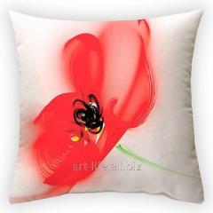 Design throw pillow Poppy haze, art.