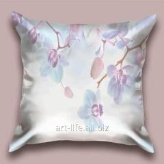 Design throw pillow Azure orchid, art.