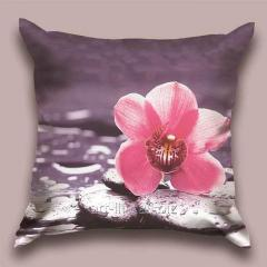 Design Meditation throw pillow, art.