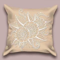 Design throw pillow Vanilla openwork, art.