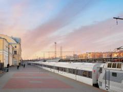 High-speed interregional train of locomotive draft