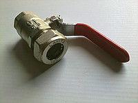 Кран шаровый для труб Gofraflex P*FL(C) 15*1/2: PLATED NICKEL (мама)