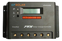 Программируемый фотоэлектрический контроллер заряда ViewStar VS4048N (40А, 12/24/48Vauto, PWM)