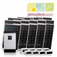 Autonomous solar power station of 3 kW