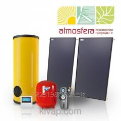 The GVS heliosystem on flat collectors of 300 l of hot water in days on 6 people