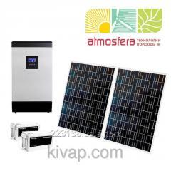 Autonomous solar power station of 0,4 kW