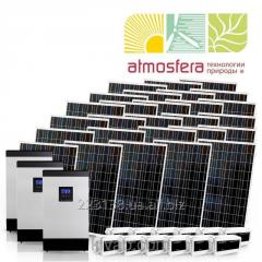 Autonomous solar power station of 6 kW