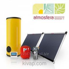 The Atmosfera-Prosto! heliosystem of 300 l on vacuum collectors